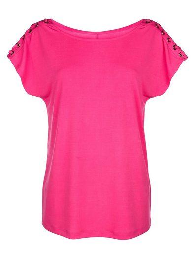Amy Vermont Shirt mit Schnürung am Ärmel