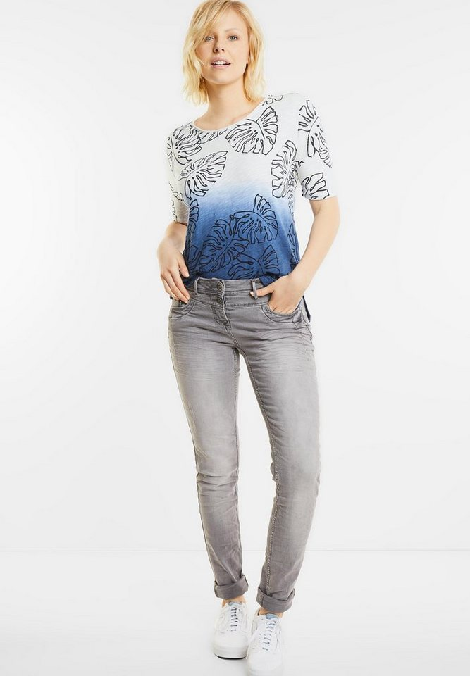 CECIL Lockeres Blätterprint Shirt