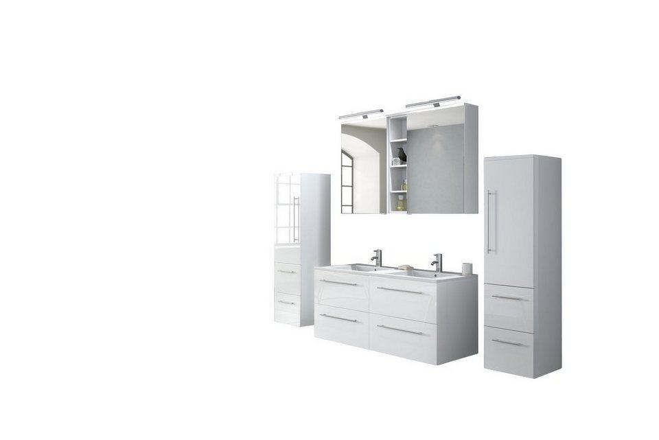 salesfever badm bel set breite 120 cm 4tlg varia. Black Bedroom Furniture Sets. Home Design Ideas