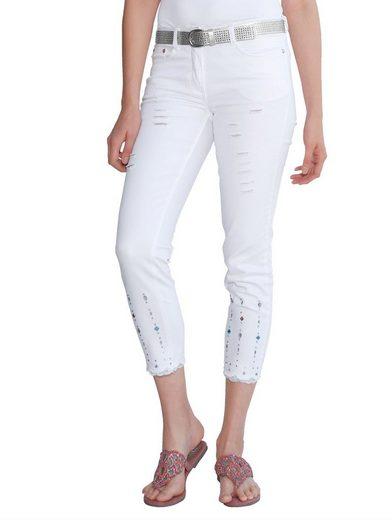 Amy Vermont 7/8-jeans Avec Strassdekoration