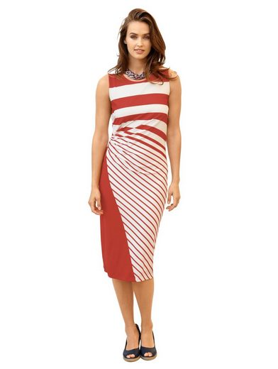 Amy Vermont Jersey Dress With Stripe Dessin