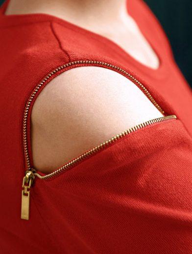 Amy Vermont Pullover mit Reißverschluss-Details