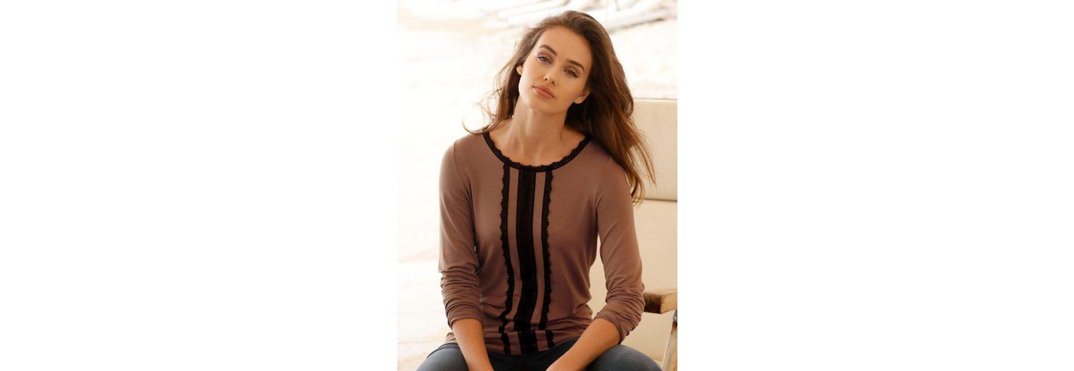 Amy Vermont Shirt mit dekorativen Spitzenbändern Preiswert Günstiger Preis z9DJO