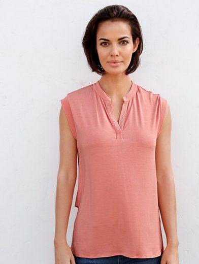 Amy Vermont Shirt mit Chiffoneinsatz