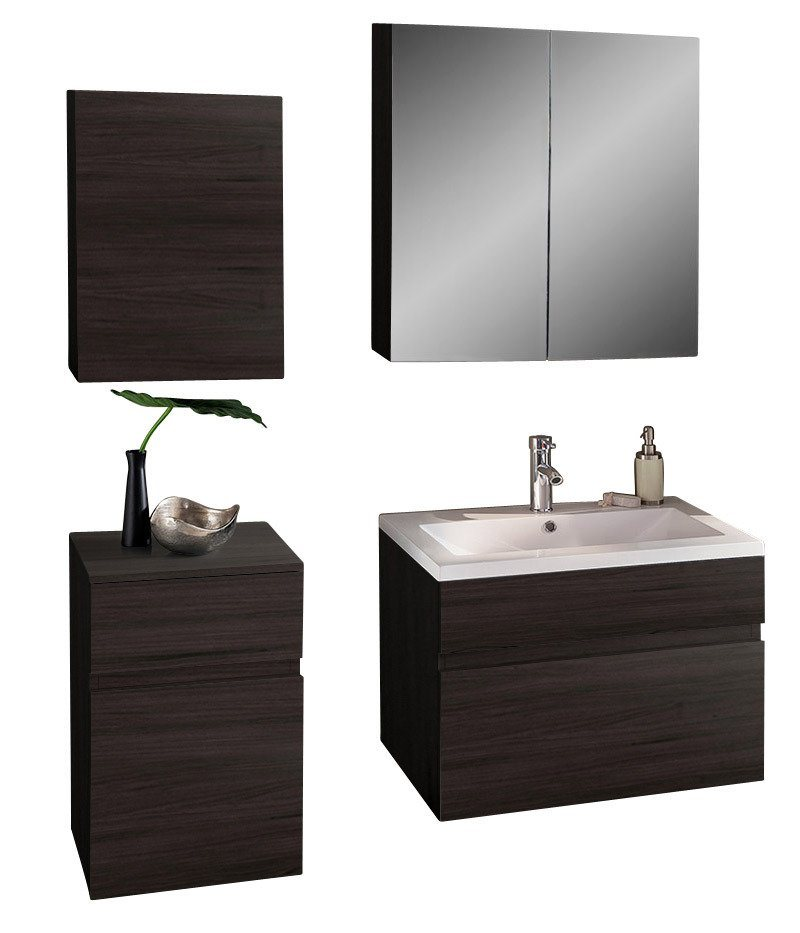 salesfever badm bel set breite 80 cm 4 tlg selina online kaufen otto. Black Bedroom Furniture Sets. Home Design Ideas