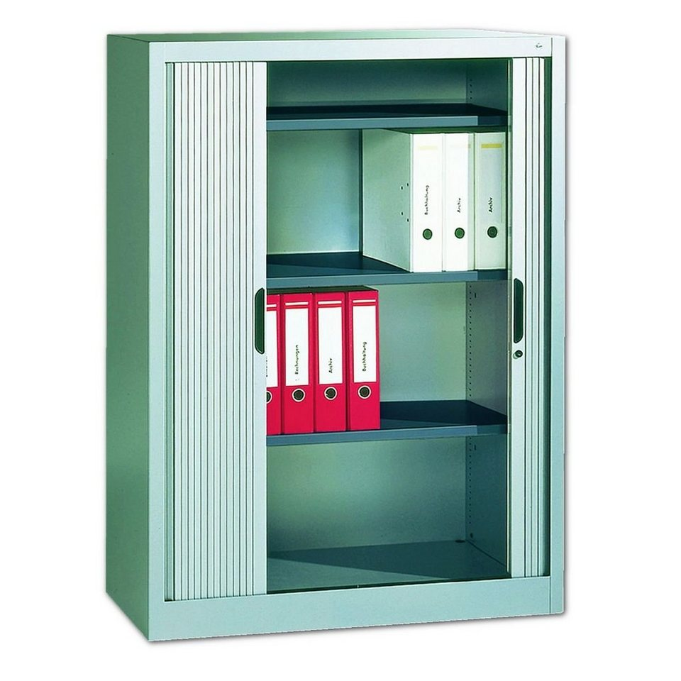 cp stahlschrank mit rollladen 100 x 134 5 cm omnispace online kaufen otto. Black Bedroom Furniture Sets. Home Design Ideas