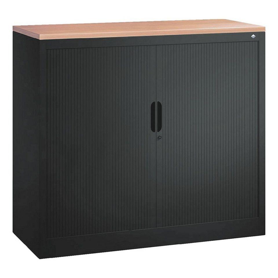 cp stahlschrank mit rollladen 100 x 103 cm omnispace online kaufen otto. Black Bedroom Furniture Sets. Home Design Ideas