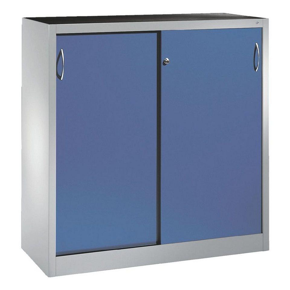 cp stahlschrank mit schiebet ren 120 x 120 cm otto. Black Bedroom Furniture Sets. Home Design Ideas