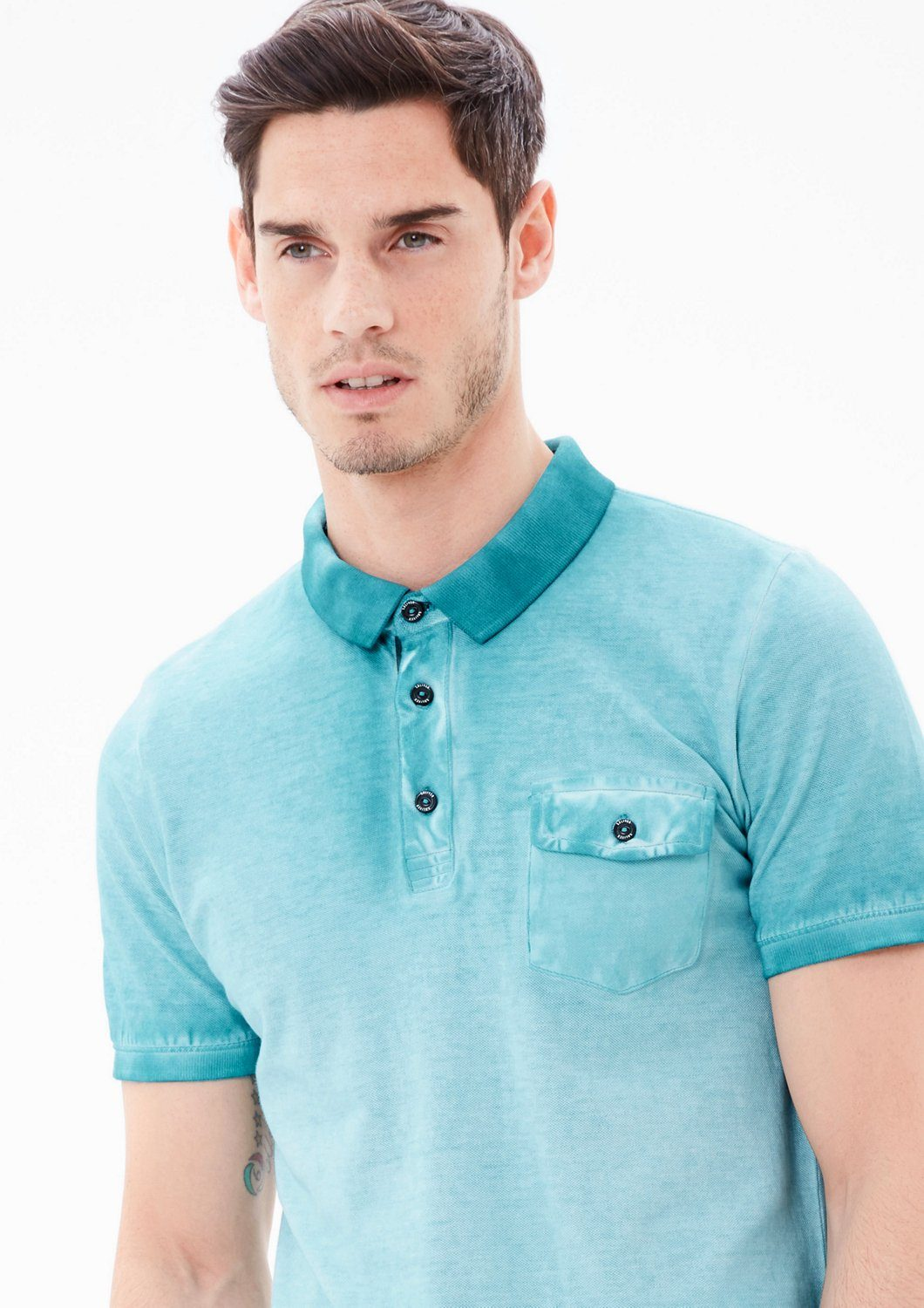 s.Oliver RED LABEL Poloshirt in Cold Pigment Dye
