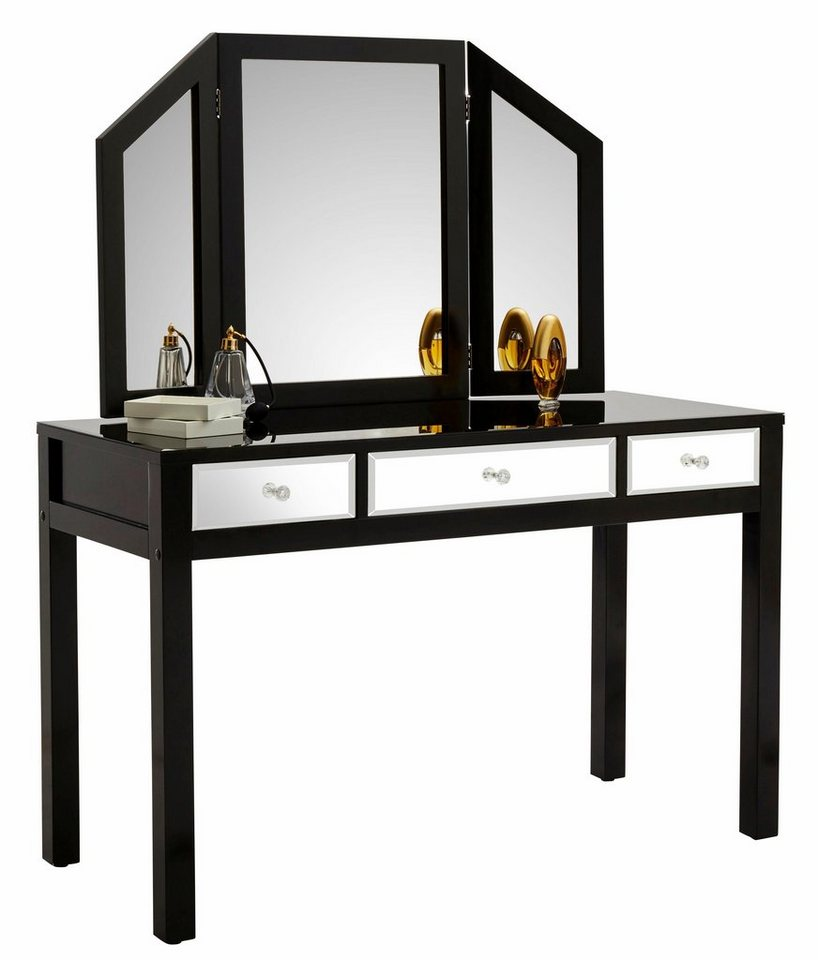 gmk home living schminktisch mit verspiegelten. Black Bedroom Furniture Sets. Home Design Ideas