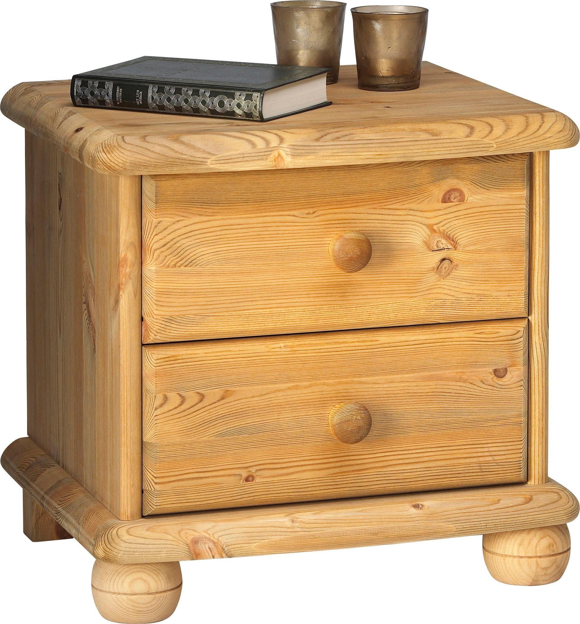 Home affaire Nachttisch «Max», mit 2 Schubladen, Breite 46 cm
