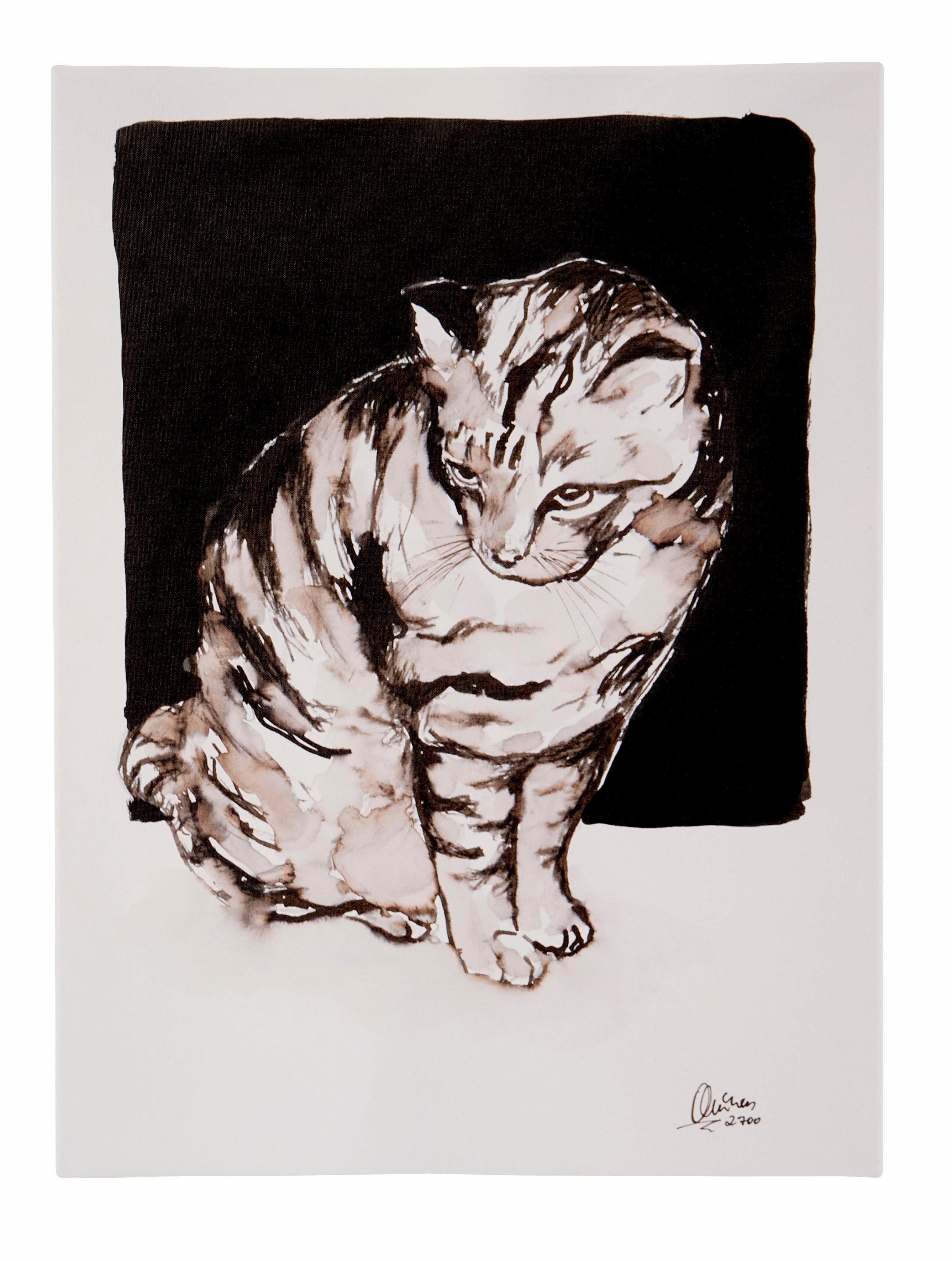 Guido Maria Kretschmer Home&Living Leinwandbild »Katze«, Katzen, von Frank Mutters, gerahmt, Keilrahmen