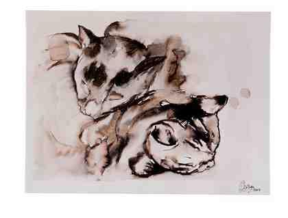 GMK Home & Living Keilrahmenbild »Katzen-Paar«
