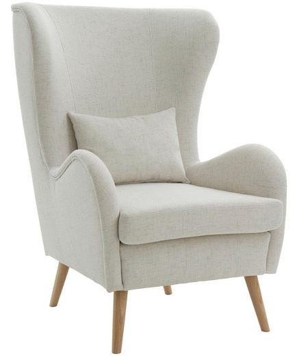 Guido Maria Kretschmer Home&Living Sessel »Salla«, wahlweise mit oder ohne Hocker; großer Sessel: Maße B/T/H: 78/94/118 cm