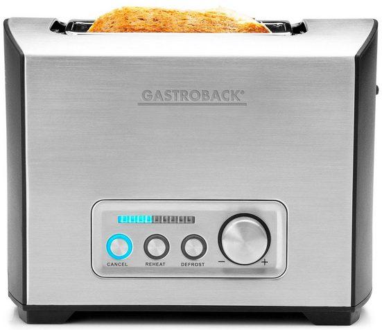 Gastroback Toaster Pro 2S 42397, 2 kurze Schlitze, für 2 Scheiben, 950 W