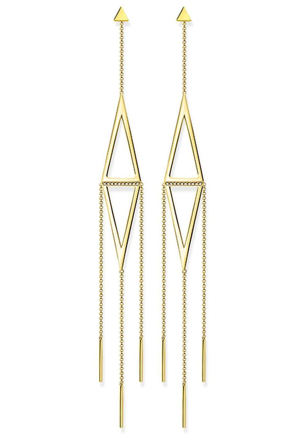 THOMAS SABO Paar Ohrstecker »Dreieck, D_H0016-924-14« mit Diamanten