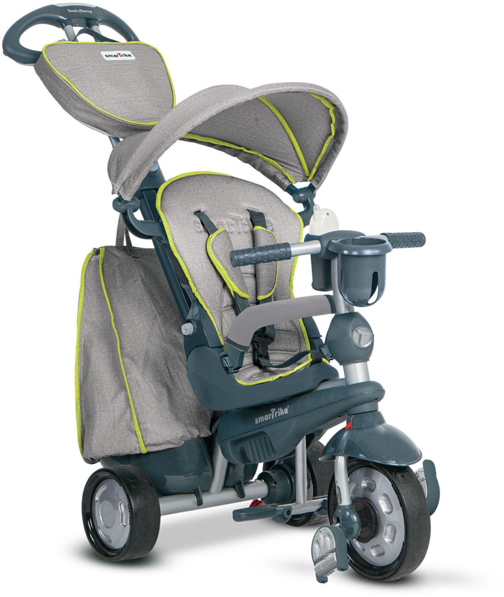 SmarTrike® Dreirad mit verstellbarem Sonnenschutzdach, »Explorer 5 Trikes in 1 grau«