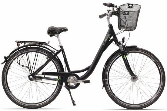 HAWK Bikes Cityrad »City Wave«, 3 Gang Shimano Nexus Schaltwerk, Nabenschaltung