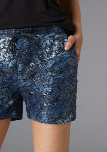 GUIDO MARIA KRETSCHMER Shorts, mit Spitze und Pailletten