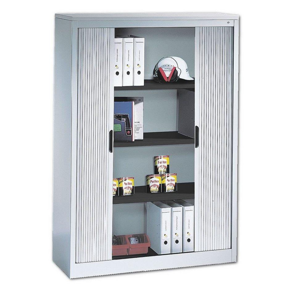 cp stahlschrank mit rollladen 120 x 166 cm omnispace online kaufen otto. Black Bedroom Furniture Sets. Home Design Ideas