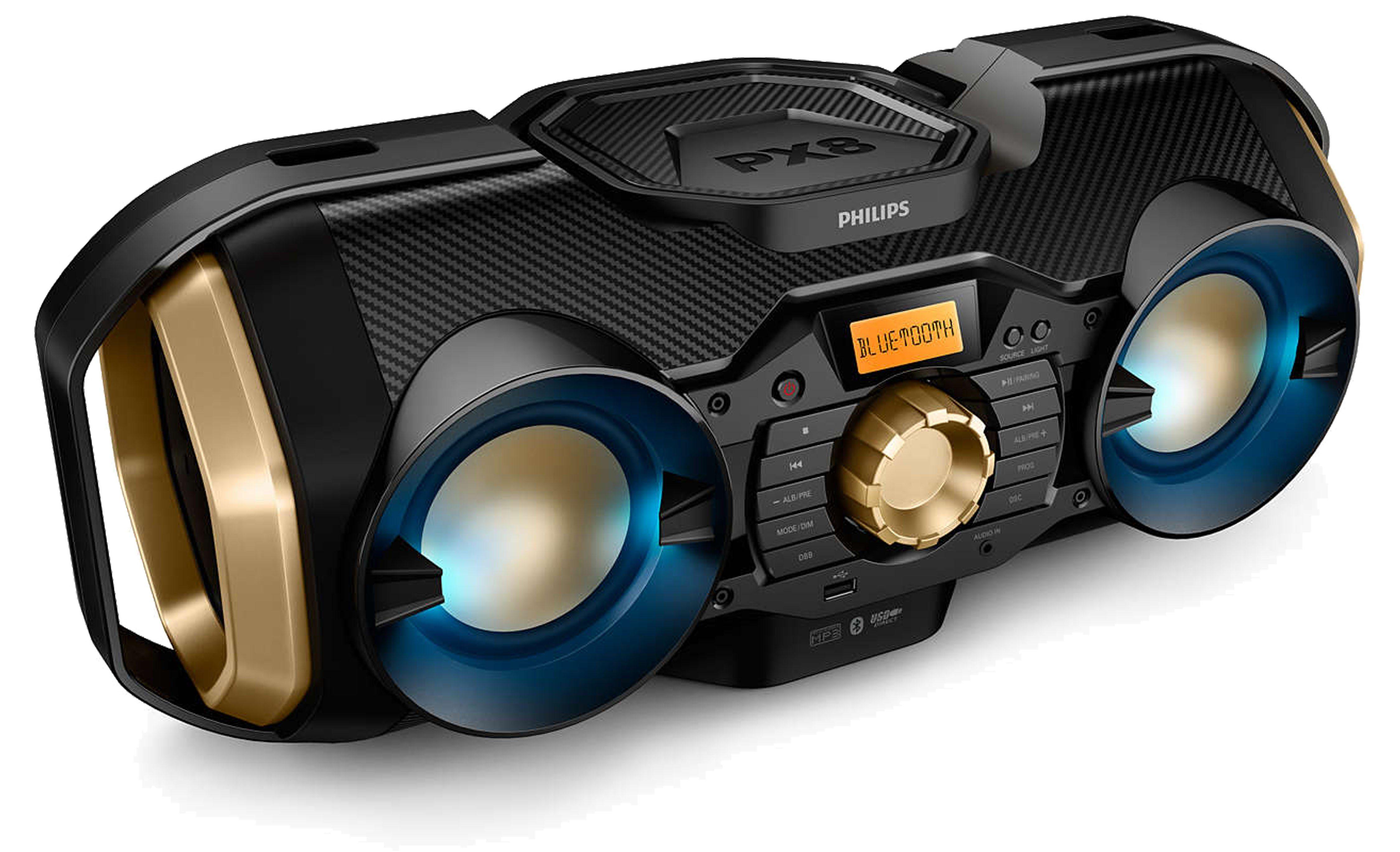 Philips Tragbares Soundsystem mit Bluetooth, USB, CD & UKW / MW-Radio »PX840T/12«
