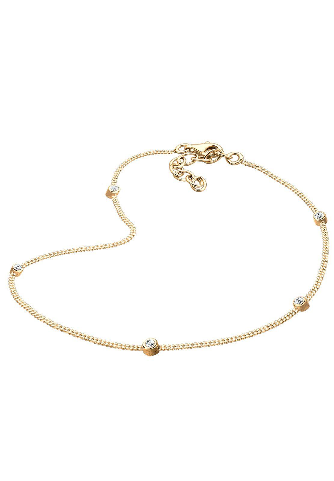 Goldhimmel Fußschmuck »Swarovski® Kristalle 925 Sterling Silber«