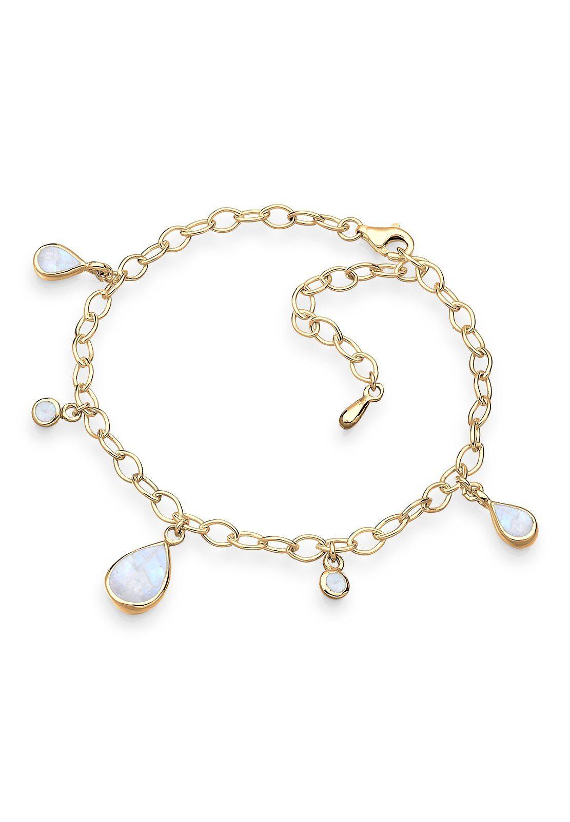 Goldhimmel Armband »Bettelarmband Mondstein 925 Silber vergoldet«