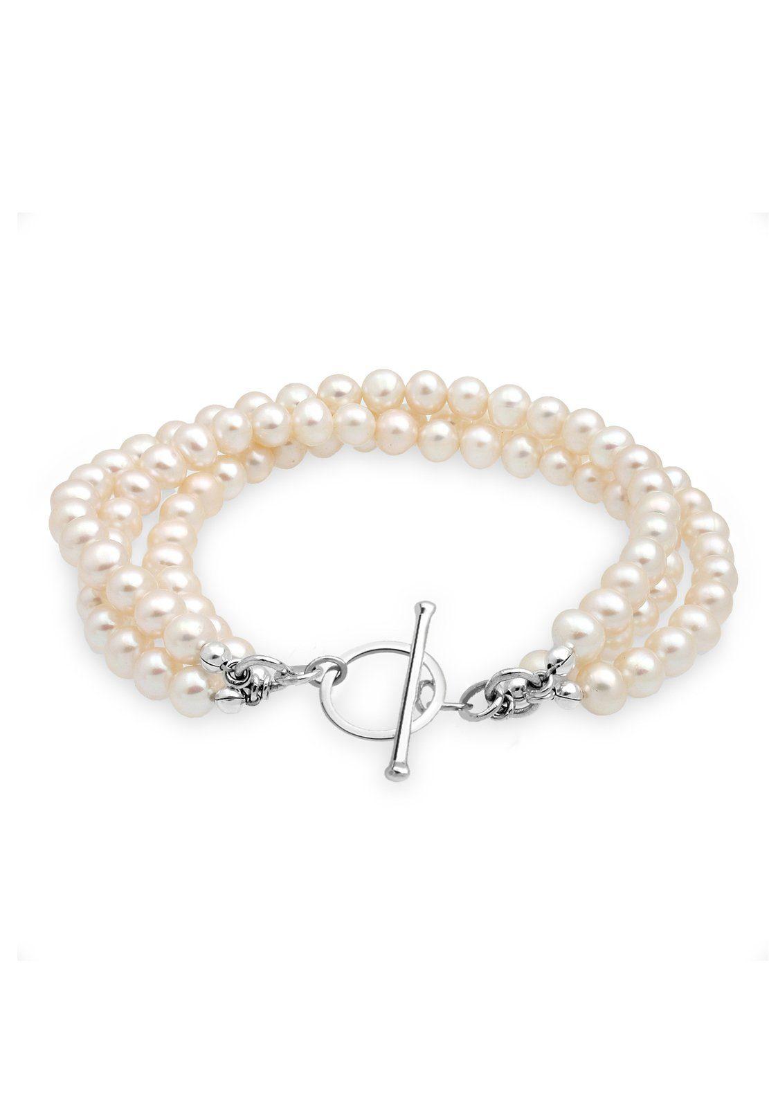 Perlu Armband »Süßwasserzuchtperle 925 Sterling Silber«