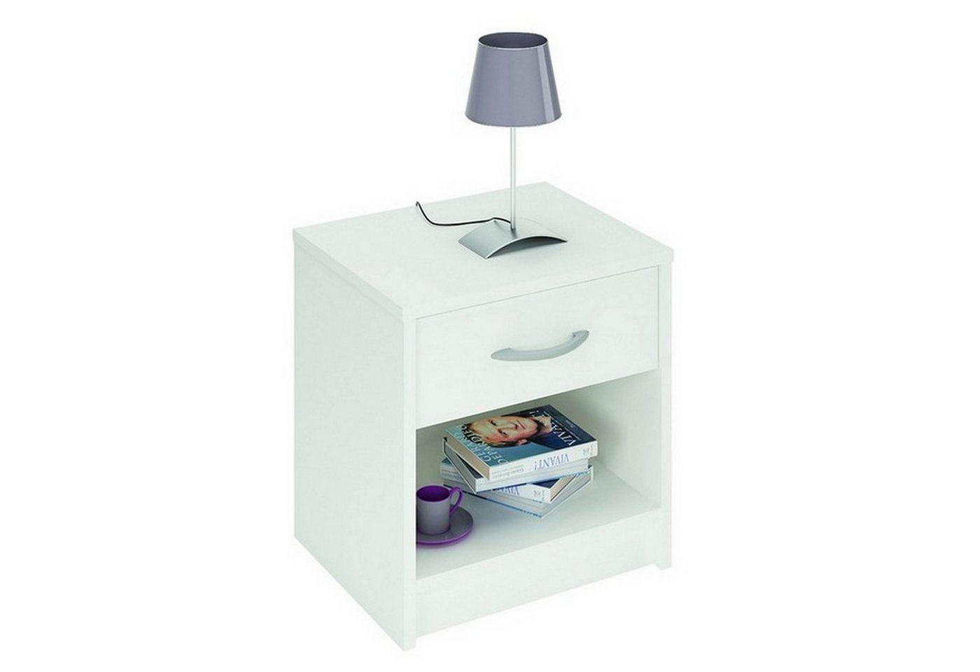 HTI-Living Nachttisch »Iris« | Schlafzimmer > Nachttische | Weiß | HTI-Living