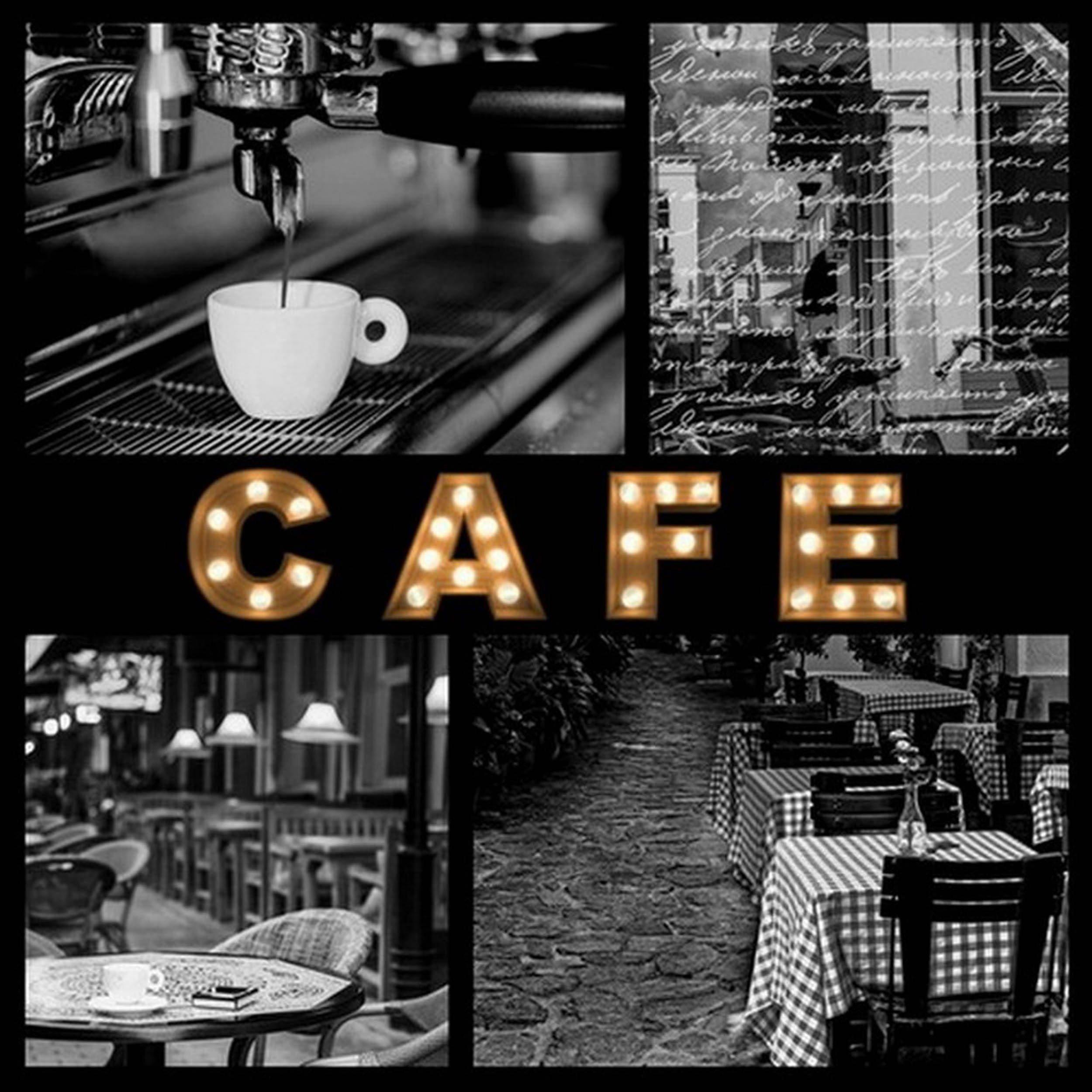 HTI-Living LED Bild »Café«