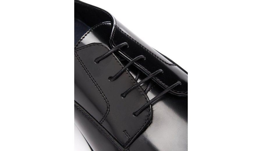 Bianco Elegante Schn眉r- Derby-Schuhe