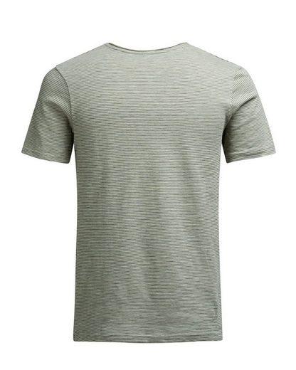 Jack & Jones Melange-T-Shirt mit zeitlosen Streifen