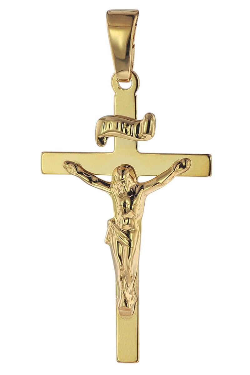 trendor Kreuzanhänger »Kruzifix 750 Gold/18 Karat 24 x 15 mm«