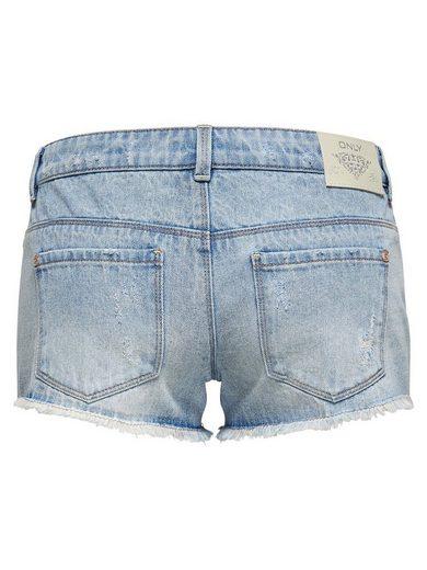 Only Coral sl Spitzen- Jeansshorts