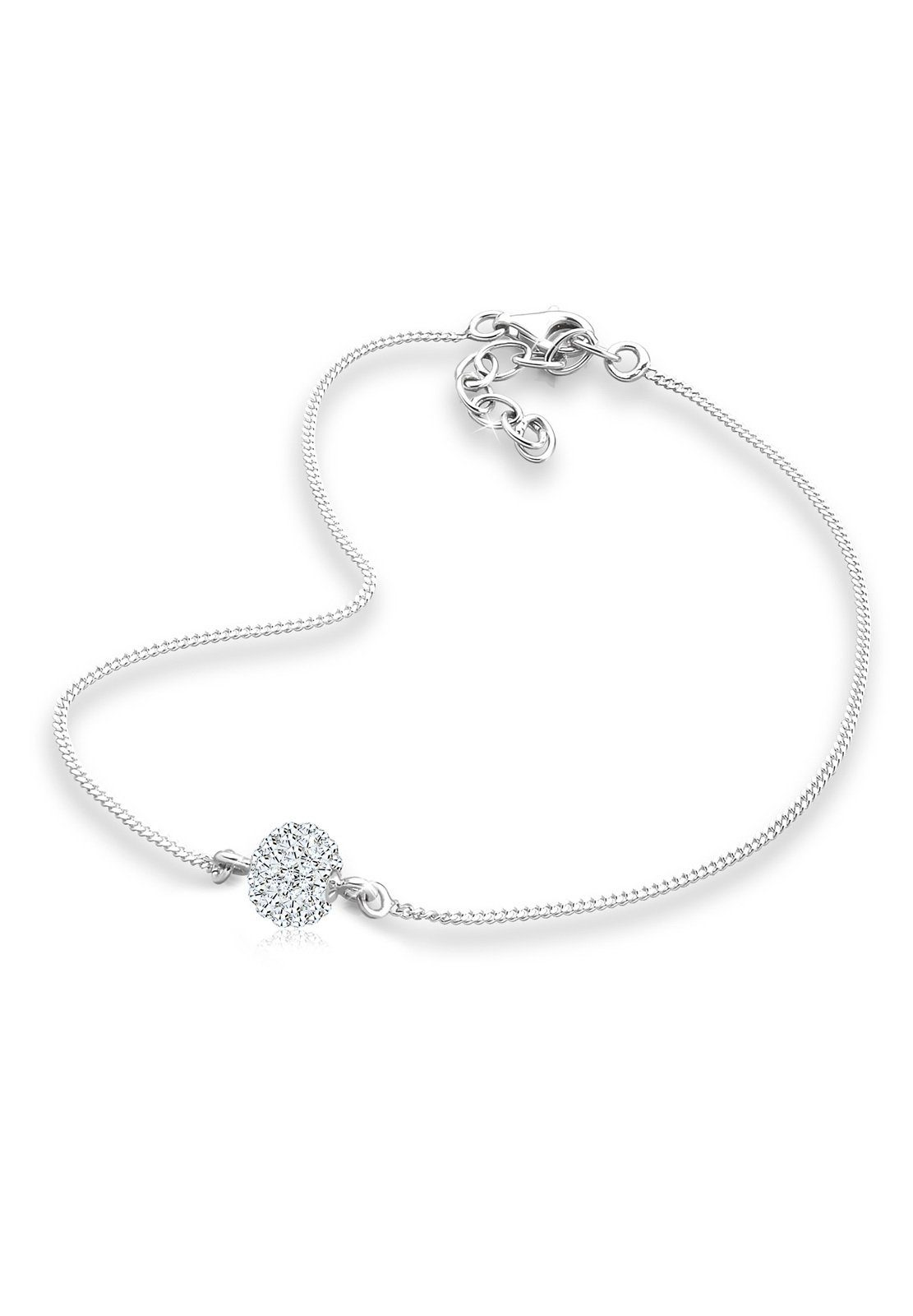 Elli Fußschmuck »Swarovski® Kristalle 925 Sterling Silber«