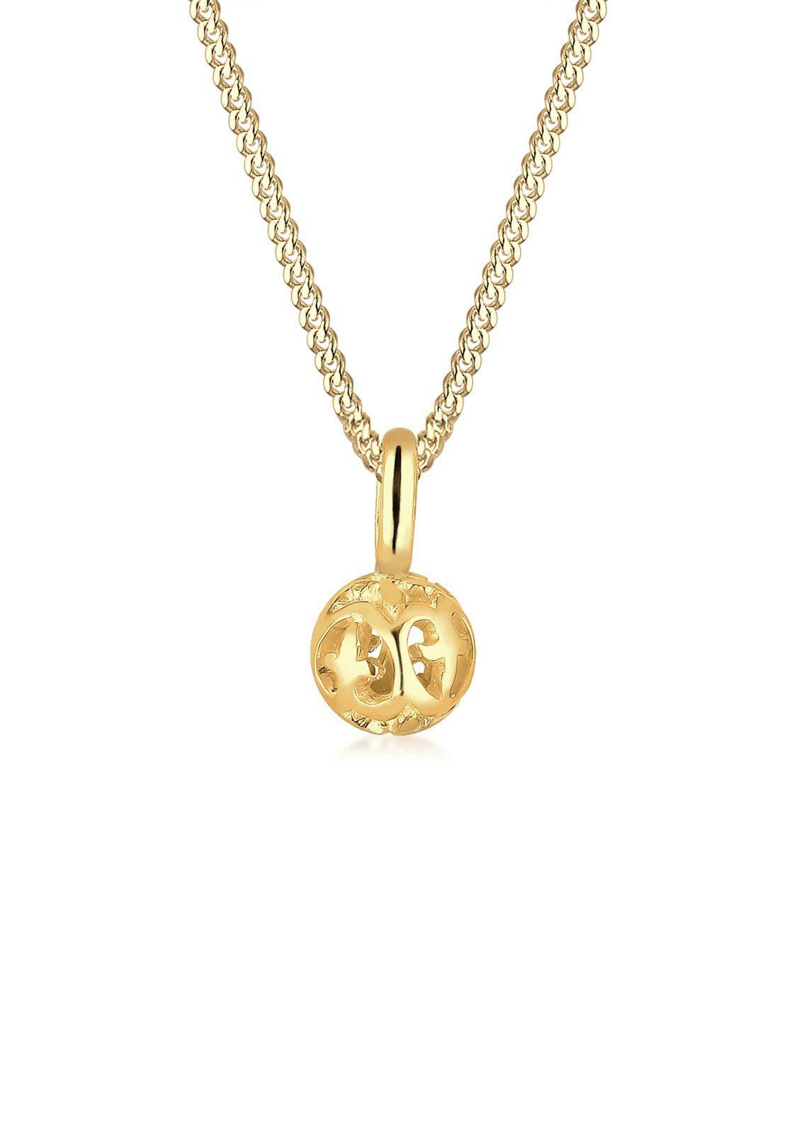 Elli Halskette »Ornament Kugel 585 Gelbgold«