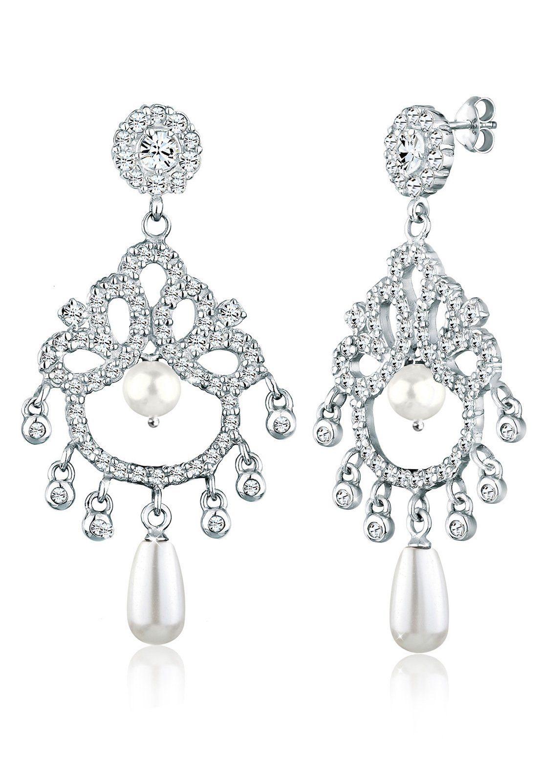 Elli Ohrringe »925 Sterling Silber Glamouröse Ohrhänger Perlen«