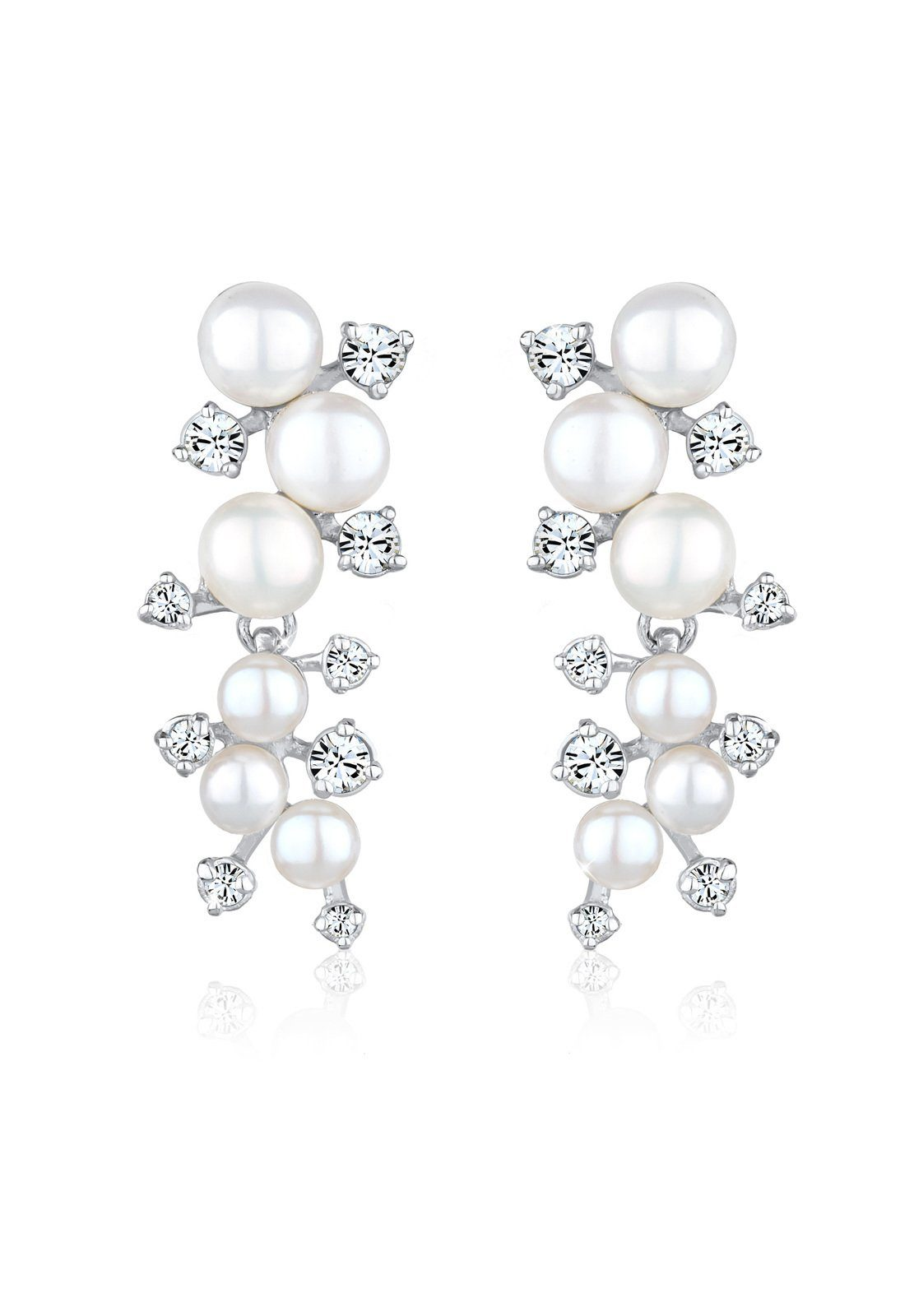Perlu Ohrringe »Perle Swarovski Kristalle 925 Sterling Silber«