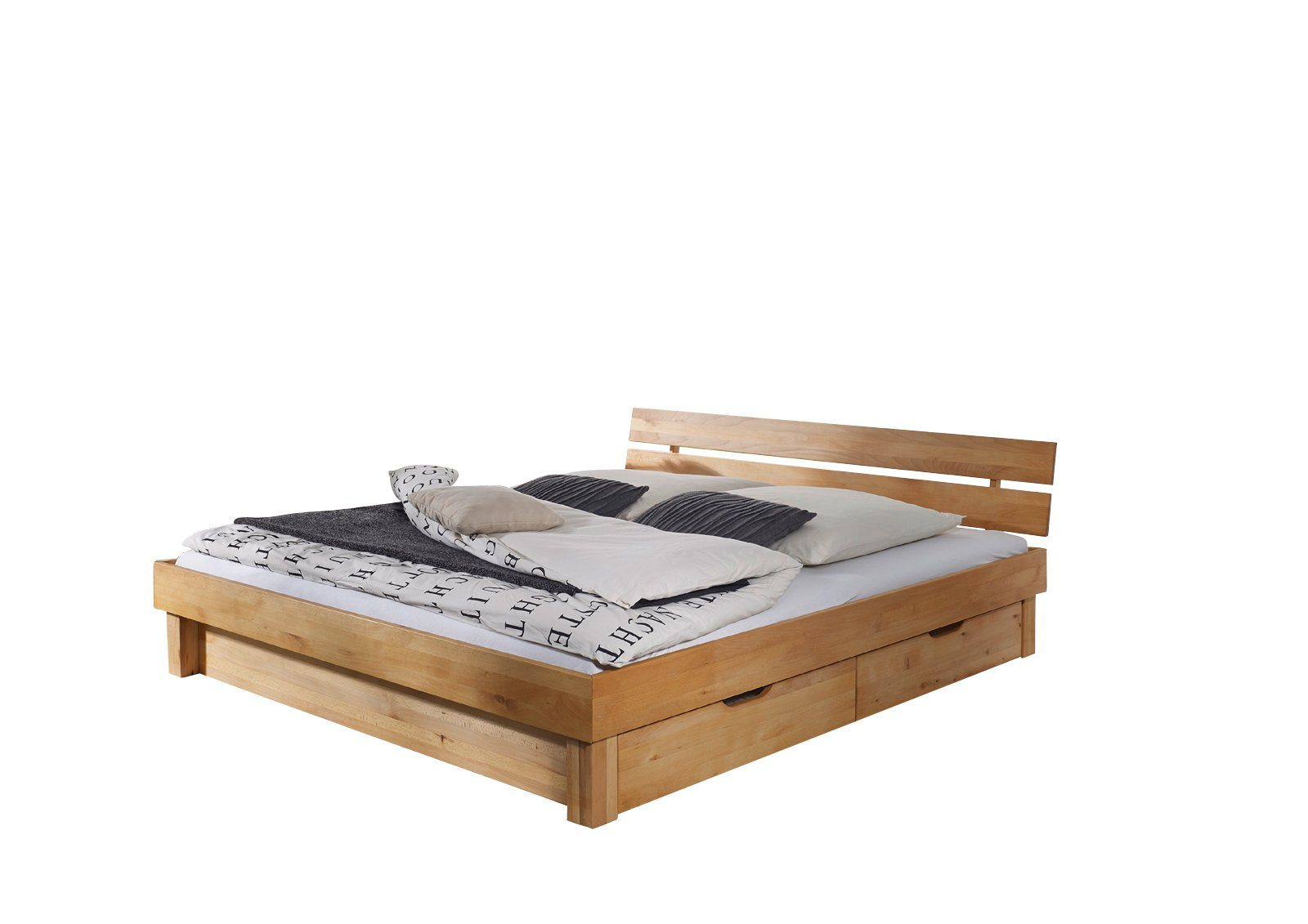 SalesFever Massivholzbett mit Bettkästen »Clementes«