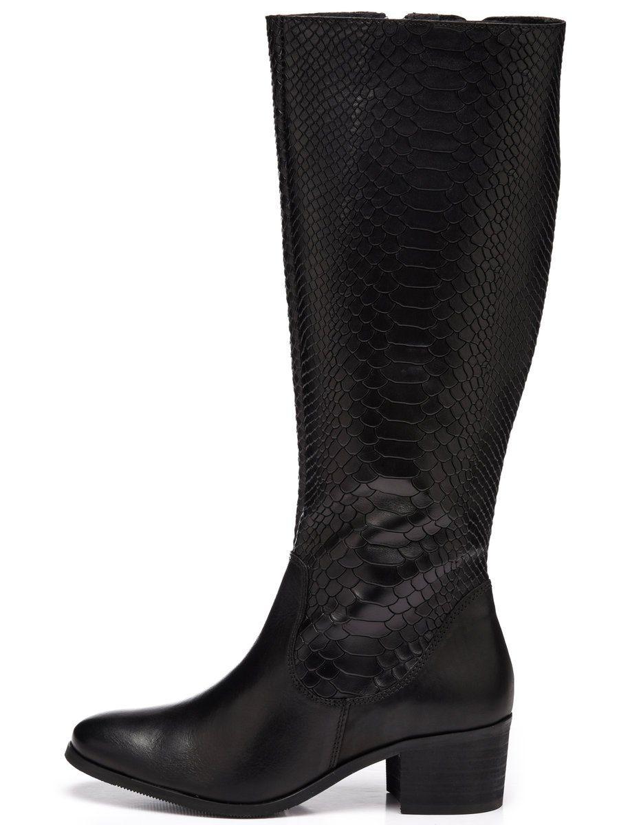 Bianco Lange Reptil- Stiefel online kaufen  Black