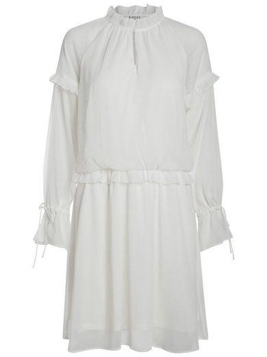 Pieces Langärmeliges Rüschen- Kleid