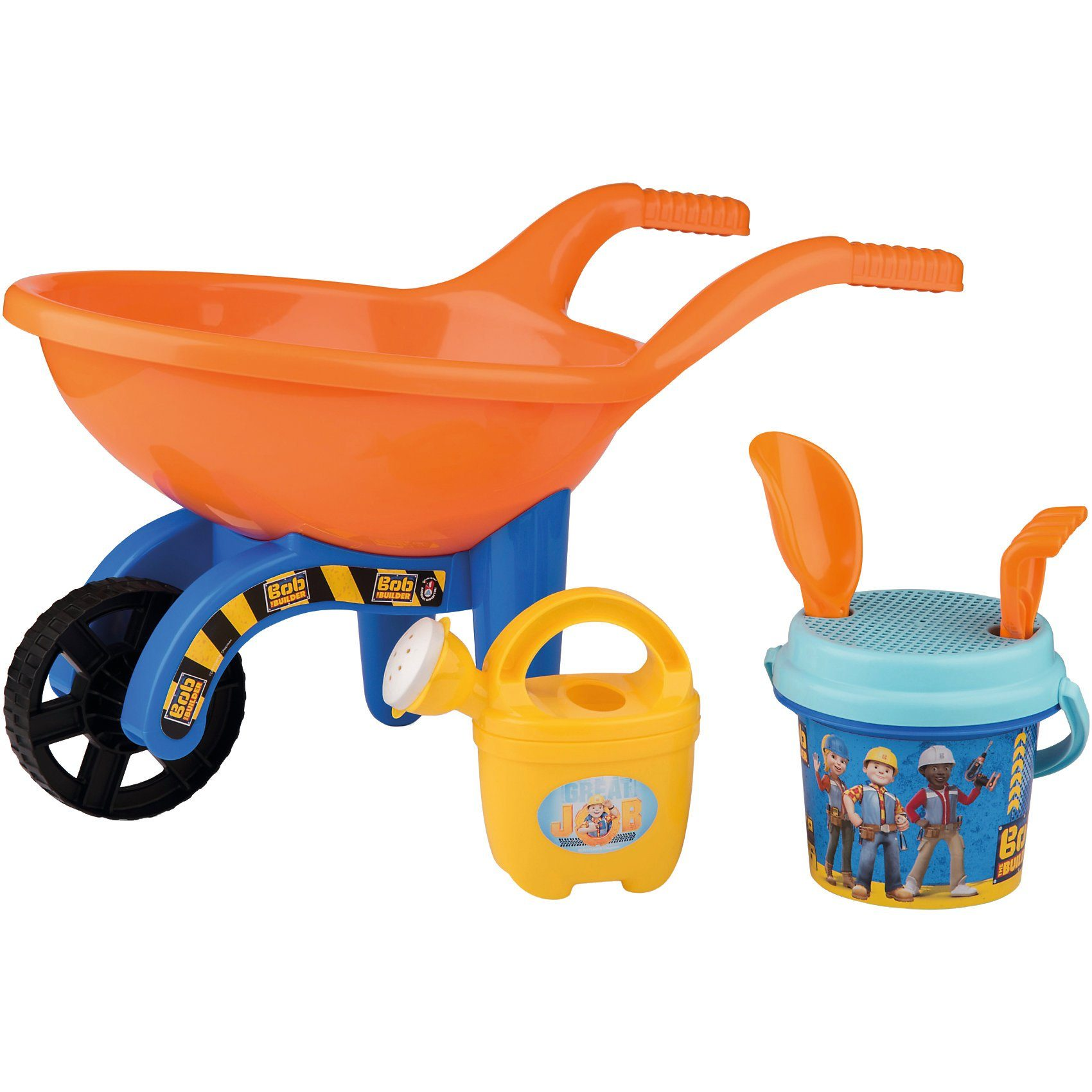 SIMBA Schubkarrenset mit Sandspielzeug, 6-tlg.