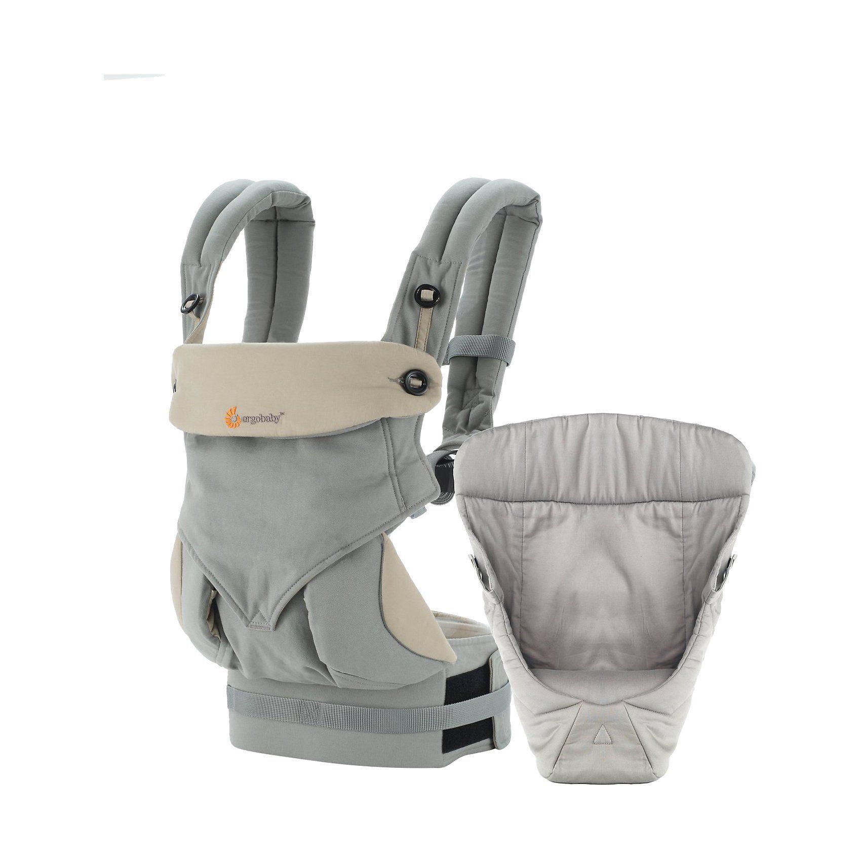 ERGObaby Von-Geburt-an-Paket Babytrage 360°, Grey/Taupe