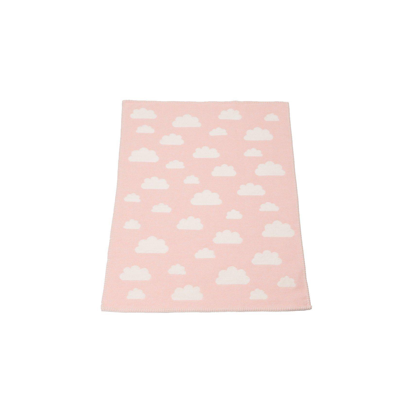 DAVID FUSSENEGGER Babydecke Finn, Wolken rosa, 65 x 90 cm | Kinderzimmer > Textilien für Kinder > Babytextilien | Rosa | Baumwolle | DAVID FUSSENEGGER