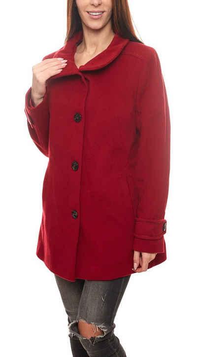 Gil Bret Wintermantel »GIL BRET Winter-Mantel gemütlicher Damen Woll-Mantel Freizeit-Jacke mit Kaschmir-Anteil Biking Red«