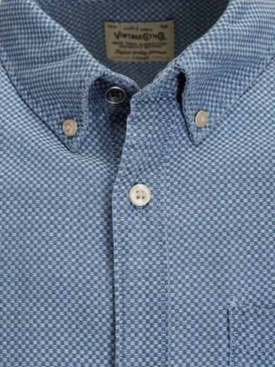Jack & Jones Micromuster- Langarmhemd