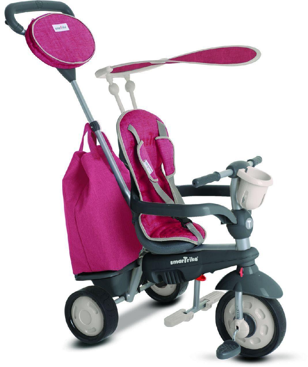 SmarTrike® Dreirad mit verstellbarem Sonnenschutzdach, »Voyage 4 Trikes in 1 rot«
