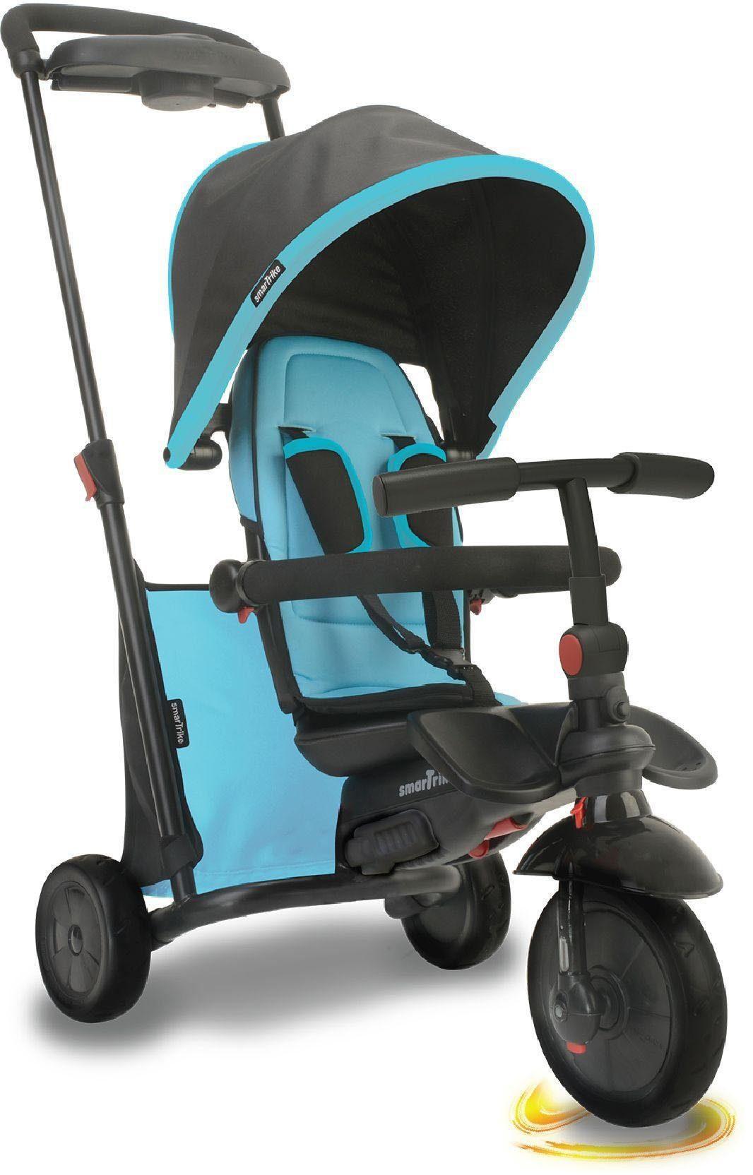 smarTrike® Dreirad »Folding Trike 500 blau«, mit verstellbarem Sonnenschutzdach