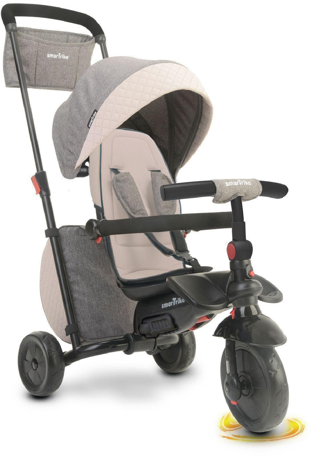 SmarTrike® Faltbares Dreirad mit verstellbarem Sonnenschutzdach, »Folding Trike 600 grau«