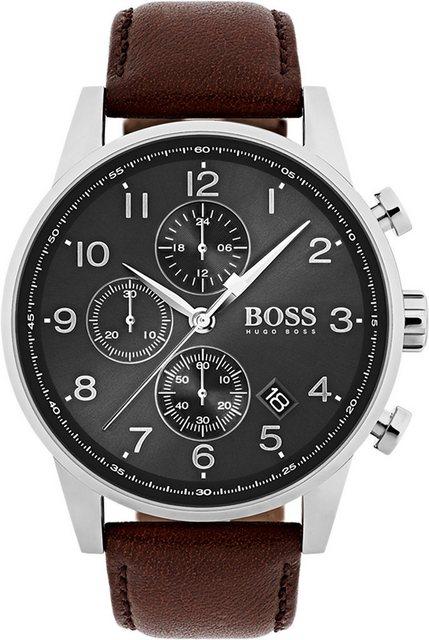 Herren Boss Chronograph NAVIGATOR CLASSIC 1513494 braun   07613272234313